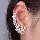 Retro Women Clip Ear Cuff Stud Rhinestone Crystal Wrap Cartilage Earring Jewelry