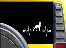 Great Dane Uncropped Lifeline K609 8 inch Sticker heartbeat dog decal