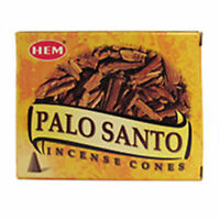 HEM Palo Santo Cone Incense - One Box of 10 Cones - NEW Free Shipping!