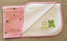 GYMBOREE 2005 PINK FROG RECIEVING BLANKET ADORABLE