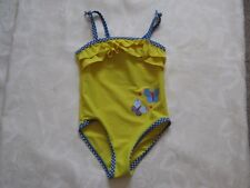 Yellow swim suit, butterflies and ruffles, age 18-24 months, 86-92cm, Exc Cond