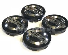 "2000-2019 Nissan Black Button Center Caps 54mm Hub Caps 2 1/8"" FITS ALL MODELS"