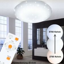 LED 34 Watt Ceiling Lamp Bedroom Effect Spotlight Dimmer Remote Control WOFI