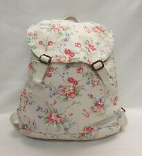 CATH KIDSTON Ladies Womens Bag Cream Floral Cotton Rucksack Backpack