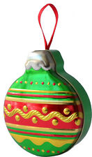 Churchill's Confectionery Baubles Green & Red Tin Filled With 100g Fruit Bonbons