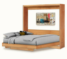 Horizontal Queen Wall Bed / Murphy Bed with Table Woodworking Plans, 3QHWB