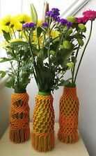 Decorative glass vase macrame