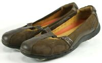 Clarks Unstructured $90 Women's Mary Janes Shoes Size 9 WIde Leather Brown