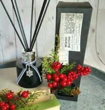 Handmade in the UK Luxury Reed diffuser, Black Glass & Reeds Christmas Berries