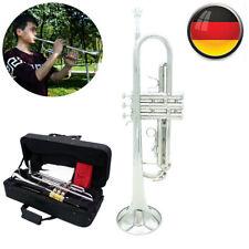 Messing Bb Trompete Band Blasinstrument mit Koffer Mundstück für Anfänger M9U3