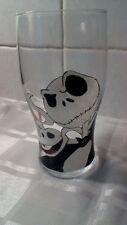 Hand Painted Jack Skellington & Zero Large Washable Pint Glass Gift Skeleton UK