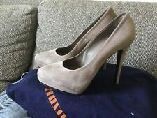 LE SILLA designer, Grey/ Beige Suede Shoes, Uk Size 4, Euro 37, RRP over £500