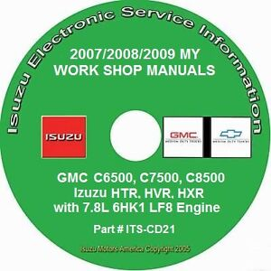 2007-2009 GMC C6500-C8500, 2007 Isuzu HTR-HXR 7.8L 6HK1-LF8 Diesel Repair Manual