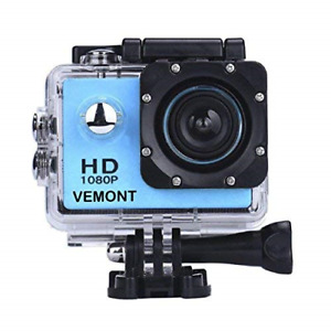 Vemont Action Camera 1080P 12MP Sports Camera Full HD 2.0 Inch Action Cam Camera