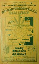 Marijuana Initiative Benefit | NORML & Seen SAL Present | Orig. 1980 Flyer