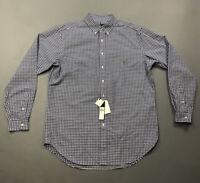 NWT Men's Ralph Lauren Blue Plaid Long Sleeve Button Up Shirt $98 Sz LT Large