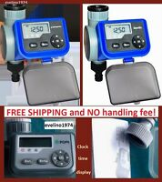 LCD Solenoid Valve Water Timer Tap Garden Irrigation Controller Battery Operated