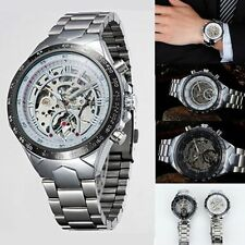 Men Skeleton Automatic Mechanical Luxury Stainless Steel Wrist Watch