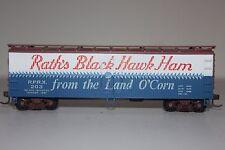 HO Scale Train Miniatures Raths Black Hawk Ham 40' Single Door  Reefer 203 Y1499