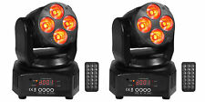 2 Rockville RockOn-7 40w RGBW Moving Head DMX Spot Beam Stage Club Lights+Remote