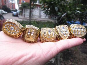 5pcs San Francisco 49ers American Football Team Ring Set Souvenir Fan Men Gift