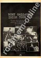 Rory Gallagher Irish Tour '74 Advert 6/7/74