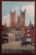 Vintage Lincoln Postcard - Exchequer Gate -1907