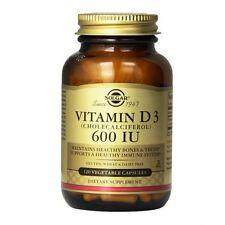 Solgar Vitamin D3 600 IU (15ug) Vegetable Capsules 120