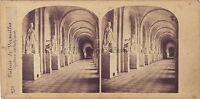 Versailles Galerie Dei Sculture Francia Stereo Vintage Albumina Ca 1860