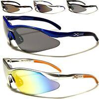 NUOVO Xloop occhiali da sole UOMO DONNA NERO DESIGN SPORT GRANDE Avvolgente