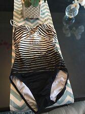 Sold Out!! GOTTEX 2015 Seychelles 1 Pc Bandeau Swimsuit Sz 10 NWOT New