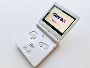 STUNNING ALL WHITE GAMEBOY ADVANCE SP Backlit Backlight LCD Screen Game Boy