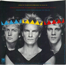 THE POLICE  King Of Pain / Someone To Talk To  45 with PicSleeve  STING