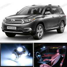 14 x Premium Xenon White LED Lights Interior Package Toyota Highlander 2008-2013