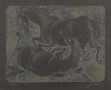 """ERNI HANS """"Zwei Pfede III"""" 1956 handsignierte Originallithografie! TOP"""