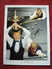 7X WORLD SNOOKER CHAMP STEPHEN HENDRY PERSONALLY SIGNED PHOTO 30cm x 40cm - COA