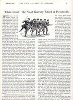1896 ARTICLE ~ WHALE ISLAND THE NAVAL GUNNERY SCHOOL AT PORTSMOUTH BOER WAR ERA