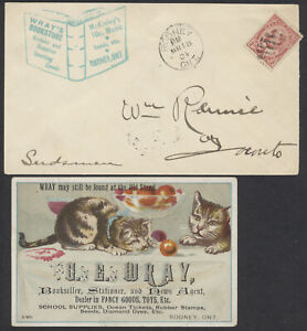 1904 Wray's Bookstore Advertising Cover and Multi-Colour Card Insert, Rodney Ont