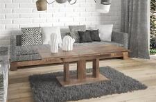 Couchtisch Wohnzimmertisch Nussbaum ausziehbar Auszug erweiterbar Funktion Tisch