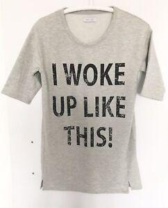 NEXT 10 I Woke Up like This Top Dress 38 M Womens Nightie Blouse Tunic Tshirt x
