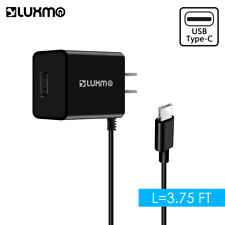Luxmo 2.1A Type-C Home Wall Travel Charger w/ Extra Usb Port for Type-C Android