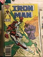 IRON MAN  (1968 Series)  (INVINCIBLE IRON MAN)(MARVEL) #209 NEWSSTAND Near Mint