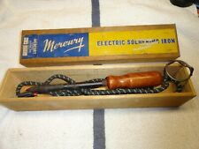 Vintage Mercury No. 4  Soldering Iron With Stand and Wooden Box 110 volt 80 watt