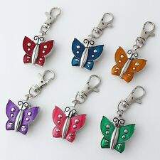 6pcs Fashion Butterfly Pocket Key Rings Double Open Wings Watch Gifts GL08KM6