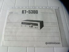 Kenwood KT-5300 De propietario Manual Operating Instrucciones instrucciones