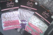 Ladies Pack 3 Full Briefs Size 16/18 100 Cotton Various Colours Anucci Women 16 /18 Blue Assortment Spots / Plain
