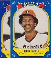 1981 FLEER BASEBALL STICKER LOT (2) ENOS CABELL ASTROS NMMT *52950