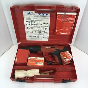 Hilti DX 460 Powder Actuated Fastening Tool Nail Gun With Case And X-460-F8 Nose