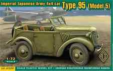 ACE 72297 1/72 Plastic WWII Japanese WWII 4 X 4 Staff Car Type 95 Model 5