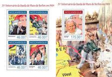 Gorbachev Reagan Pope John Paul II Religion Politics Mozambique MNH stamp set